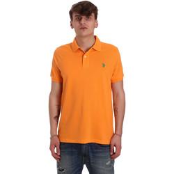 Oblečenie Muži Polokošele s krátkym rukávom U.S Polo Assn. 55957 41029 Oranžová