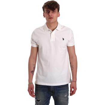 Oblečenie Muži Polokošele s krátkym rukávom U.S Polo Assn. 55957 41029 Biely