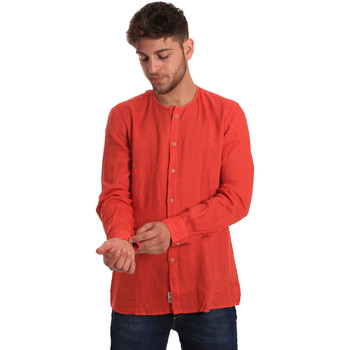 Oblečenie Muži Košele s dlhým rukávom Gaudi 811BU45022 Červená