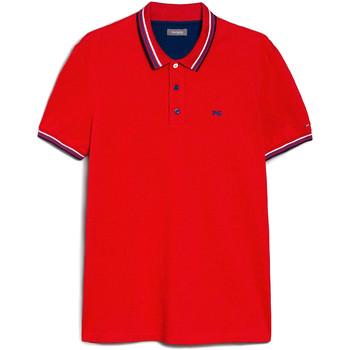 Oblečenie Muži Polokošele s krátkym rukávom NeroGiardini E072390U Červená