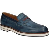 Topánky Muži Mokasíny Exton 605 Modrá