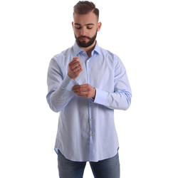 Oblečenie Muži Košele s dlhým rukávom Gmf 962111/21 Modrá