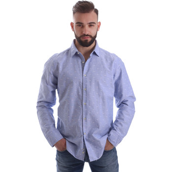 Oblečenie Muži Košele s dlhým rukávom Gmf 962118/03 Modrá