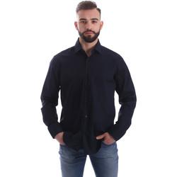 Oblečenie Muži Košele s dlhým rukávom Gmf 962250/01 Modrá