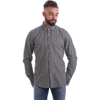 Oblečenie Muži Košele s dlhým rukávom Gmf 962169/04 čierna