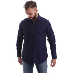 Oblečenie Muži Košele s dlhým rukávom Gmf 962103/05 Modrá