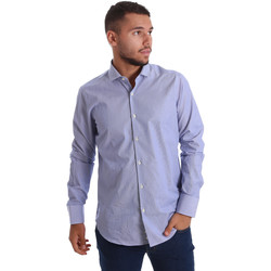 Oblečenie Muži Košele s dlhým rukávom Gmf 971263/01 Modrá