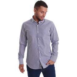 Oblečenie Muži Košele s dlhým rukávom Gmf 971264/03 Modrá