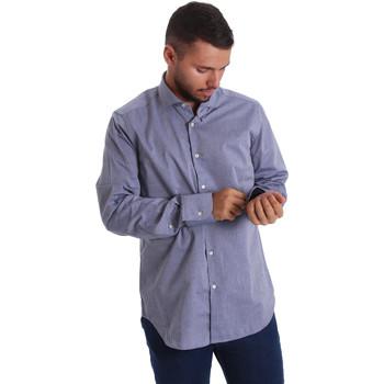 Oblečenie Muži Košele s dlhým rukávom Gmf 971134/05 Modrá