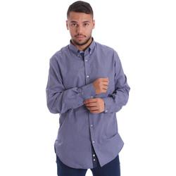 Oblečenie Muži Košele s dlhým rukávom Navigare N691010BD Modrá