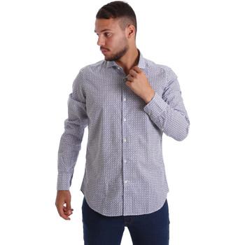 Oblečenie Muži Košele s dlhým rukávom Gmf 971184/02 Modrá