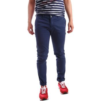 Oblečenie Muži Nohavice Chinos a Carrot Sei3sei PZV21 7183 Modrá