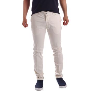 Oblečenie Muži Nohavice Chinos a Carrot Sei3sei PZV21 7148 Biely