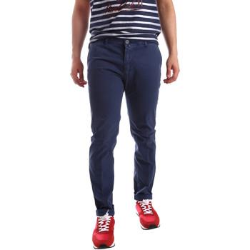Oblečenie Muži Nohavice Chinos a Carrot Sei3sei PZV20 71341 Modrá