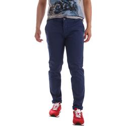 Oblečenie Muži Nohavice Chinos a Carrot Sei3sei PZV89 71336 Modrá