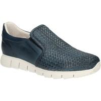 Topánky Muži Mokasíny Exton 339 Modrá