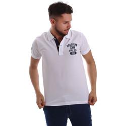 Oblečenie Muži Polokošele s krátkym rukávom Key Up 255QG 0001 Biely