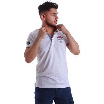 Oblečenie Muži Polokošele s krátkym rukávom Key Up 262RG 0001 Biely