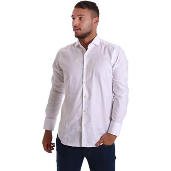 Oblečenie Muži Košele s dlhým rukávom Gmf 971103/01 Biely