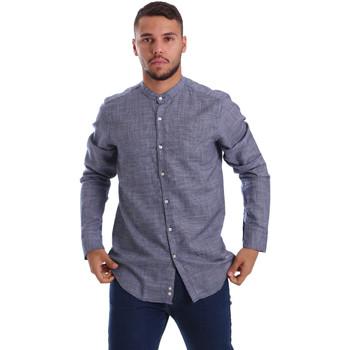 Oblečenie Muži Košele s dlhým rukávom Gmf 971139/13 Modrá