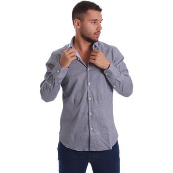 Oblečenie Muži Košele s dlhým rukávom Gmf 971185/03 čierna