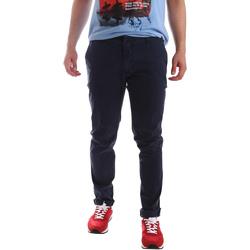Oblečenie Muži Nohavice Chinos a Carrot Sei3sei PZV156 71341 Modrá