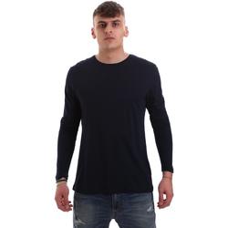 Oblečenie Muži Tričká s dlhým rukávom Antony Morato MMKL00264 FA100066 Modrá