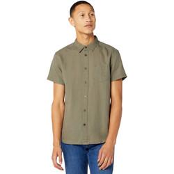 Oblečenie Muži Košele s krátkym rukávom Wrangler W5J1LOX45 Zelená