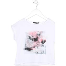 Oblečenie Dievčatá Tričká s krátkym rukávom Losan 714 1014AB Biely