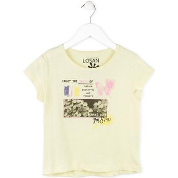 Oblečenie Dievčatá Tričká s krátkym rukávom Losan 714 1208AB žltá