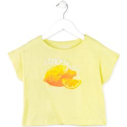 Oblečenie Dievčatá Tričká s krátkym rukávom Losan 714 1211AB žltá