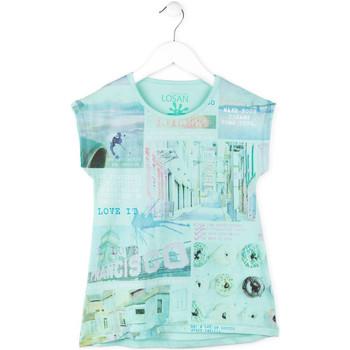 Oblečenie Dievčatá Tričká s krátkym rukávom Losan 714 1215AB Modrá