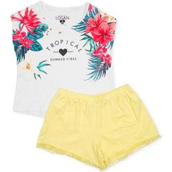 Oblečenie Dievčatá Komplety a súpravy Losan 714 8015AB Biely