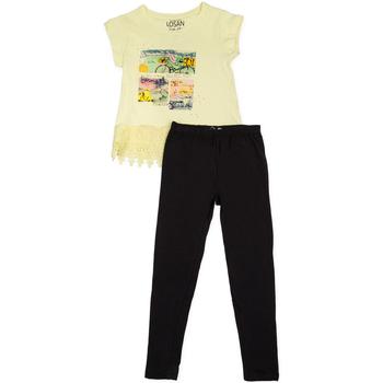 Oblečenie Dievčatá Komplety a súpravy Losan 714 8018AB žltá