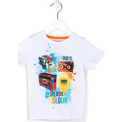 Oblečenie Chlapci Tričká s krátkym rukávom Losan 715 1023AC Biely