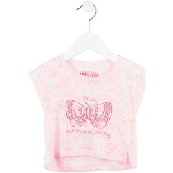 Oblečenie Dievčatá Tričká s krátkym rukávom Losan 716 1011AD Ružová