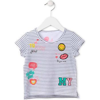 Oblečenie Dievčatá Tričká s krátkym rukávom Losan 716 1033AD Biely