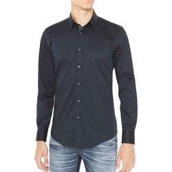 Oblečenie Muži Košele s dlhým rukávom Antony Morato MMSL00415 FA450001 Modrá