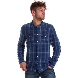 Oblečenie Muži Košele s dlhým rukávom Gaudi 721BU46005 Modrá