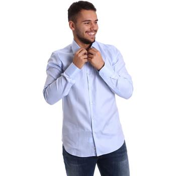 Oblečenie Muži Košele s dlhým rukávom Gmf 972903/02 Modrá