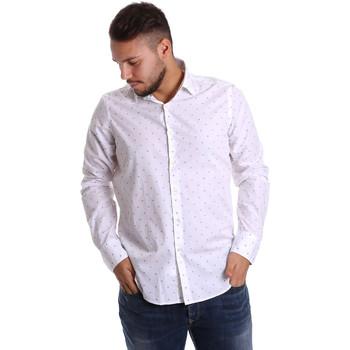 Oblečenie Muži Košele s dlhým rukávom Gmf 972156/03 Biely