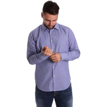 Oblečenie Muži Košele s dlhým rukávom Gmf 972160/04 Modrá