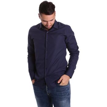 Oblečenie Muži Košele s dlhým rukávom Gmf 972900/04 Modrá