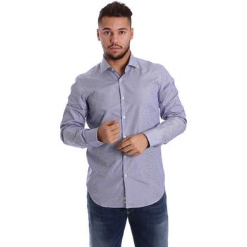 Oblečenie Muži Košele s dlhým rukávom Gmf 972906/04 Modrá