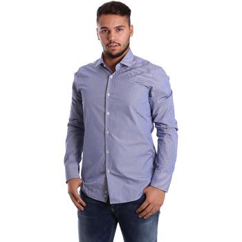Oblečenie Muži Košele s dlhým rukávom Gmf 972908/04 Modrá