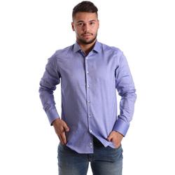Oblečenie Muži Košele s dlhým rukávom Gmf 972103/05 Modrá
