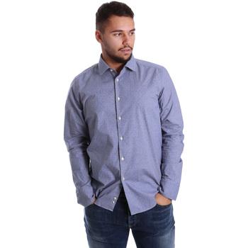 Oblečenie Muži Košele s dlhým rukávom Gmf 972144/01 Modrá