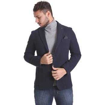 Oblečenie Muži Saká a blejzre Sei3sei PZG9 7291 Modrá