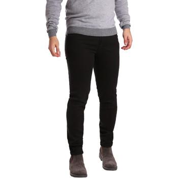 Oblečenie Muži Nohavice päťvreckové Sei3sei PZV17 7257 čierna