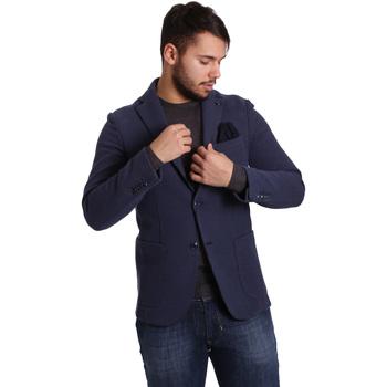 Oblečenie Muži Saká a blejzre Sei3sei PZG9 7290 Modrá